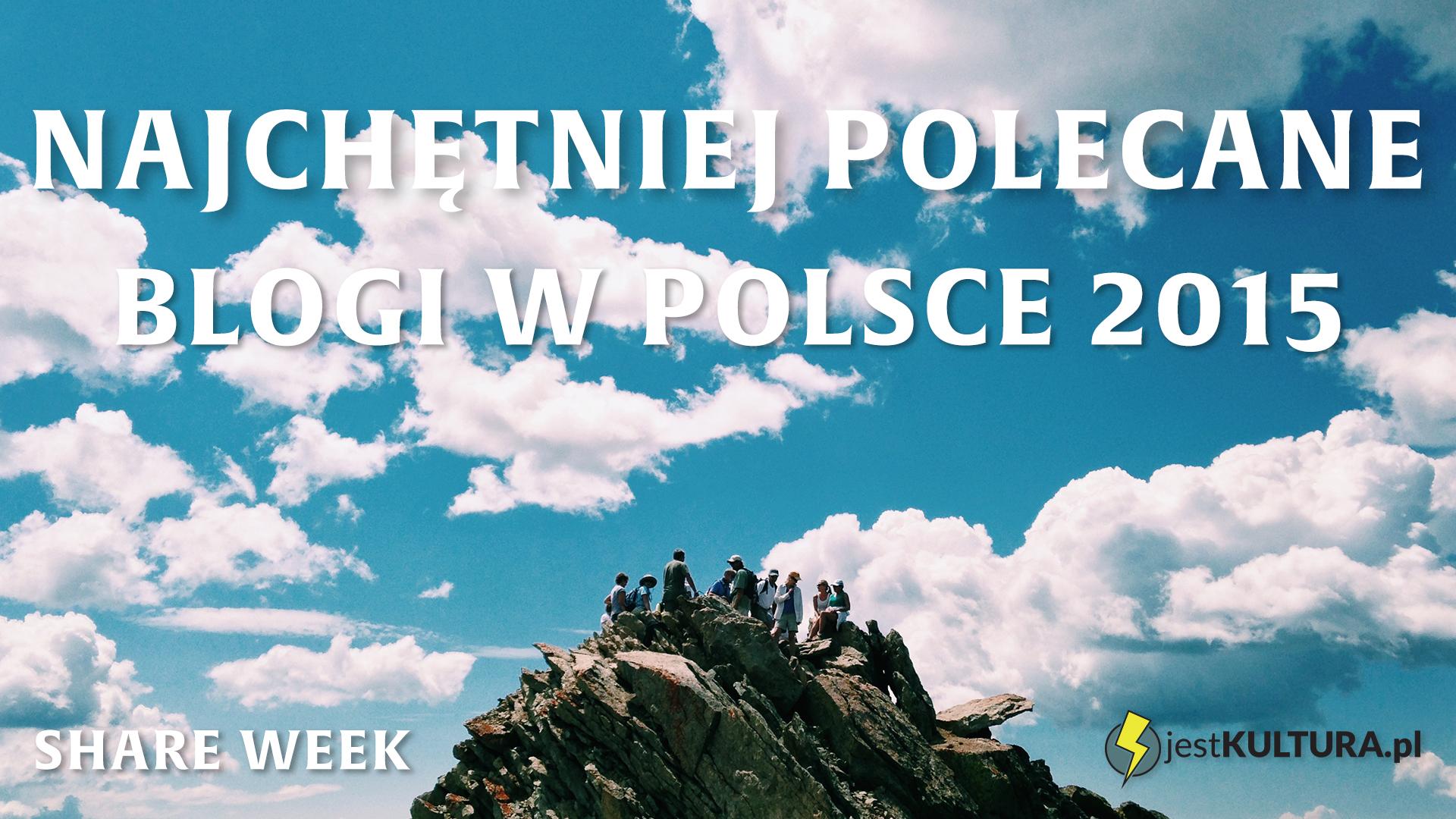 Najchętniej polecane blogi w Polsce 2015 - wyniki SHARE WEEK